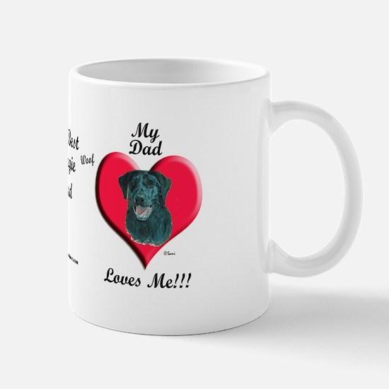 Black Lab: I love my Dad! Mug