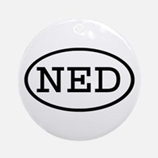 NED Oval Ornament (Round)
