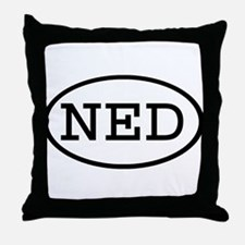 NED Oval Throw Pillow
