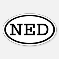 NED Oval Oval Decal