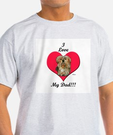 Yorkie Father's Day Ash Grey T-Shirt