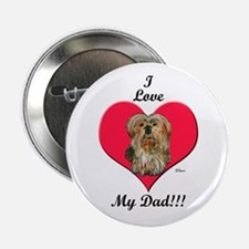 Yorkie Father's Day Button