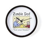 Zombie dad Wall Clock