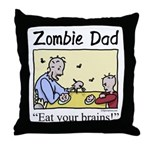Zombie dad Throw Pillow