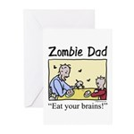 Zombie dad Greeting Cards (Pk of 10)