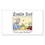 Zombie dad Rectangle Sticker