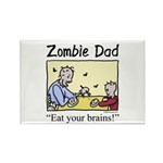 Zombie dad Rectangle Magnet