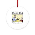 Zombie dad Ornament (Round)