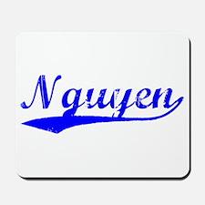 Vintage Nguyen (Blue) Mousepad