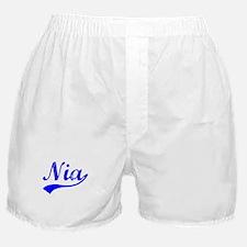 Vintage Nia (Blue) Boxer Shorts