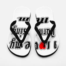 I Love My Burn nursing Mom Flip Flops