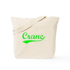 Vintage Crane (Green) Tote Bag