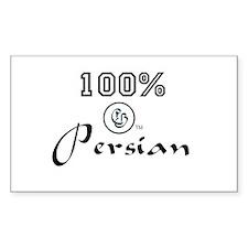 100 % Persian Rectangle Decal