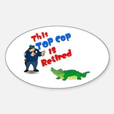 Top Cop 1 Oval Decal