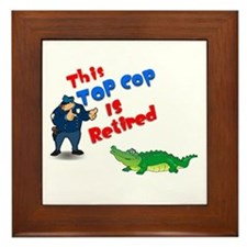 Top Cop 1 Framed Tile