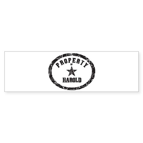 Property of Harold Bumper Sticker