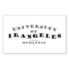 U. of Irangeles Rectangle Decal
