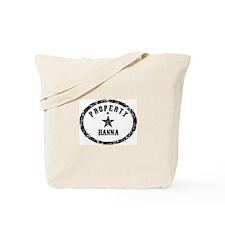 Property of Hanna Tote Bag