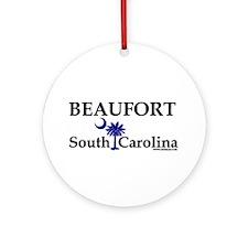 Beaufort South Carolina Ornament (Round)