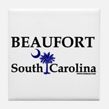 Beaufort South Carolina Tile Coaster