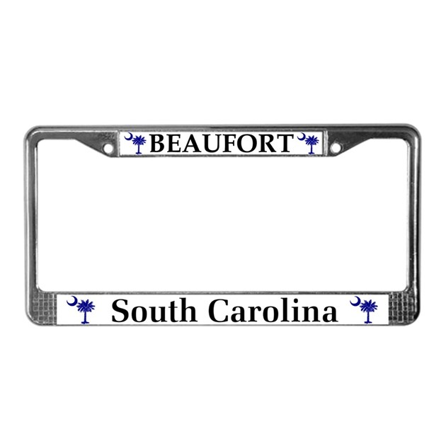 Beaufort South Carolina License Plate Frame By Scgear