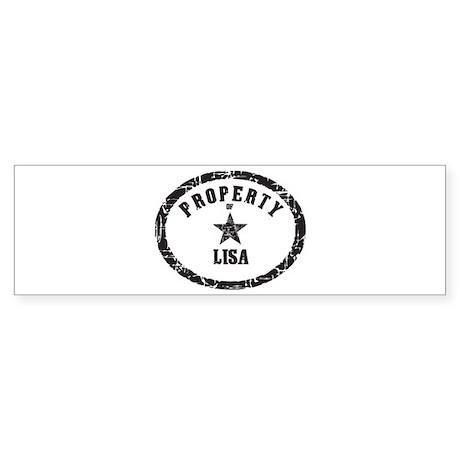 Property of Lisa Bumper Sticker