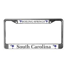 Boiling Springs SC License Plate Frame