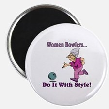 """Women Bowlers... 2.25"""" Magnet (10 pack)"""