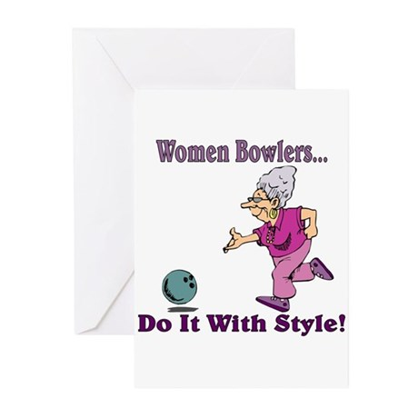 Women Bowlers... Greeting Cards (Pk of 10)