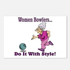 Women Bowlers... Postcards (Package of 8)