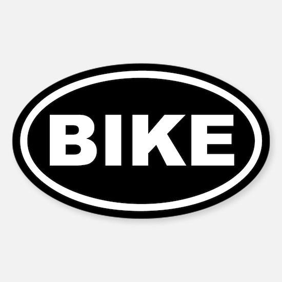 Bike Euro Oval Bumper Stickers