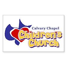Children's Church Rectangle Decal