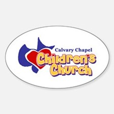 Children's Church Oval Decal