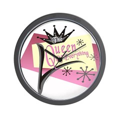Queen of Everything Wall Clock