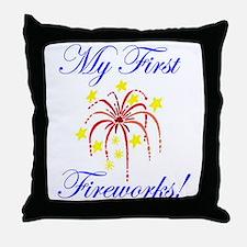 My First Fireworks! Throw Pillow