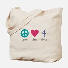 Peace, Love & Dance Tote Bag