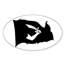 Thomas Tew Flag Oval Decal