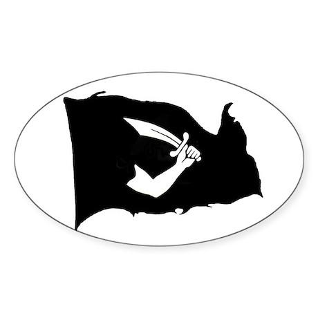 Thomas Tew Flag Oval Sticker
