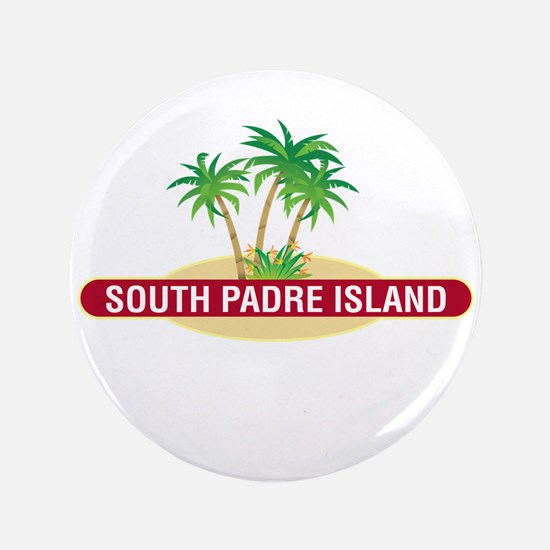 "South Padre Palms - 3.5"" Button"