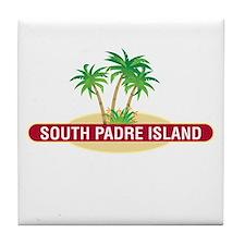 South Padre Palms - Tile Coaster