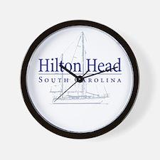 Hilton Head Sailboat - Wall Clock