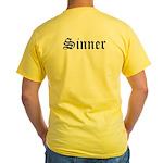 Sinner Yellow T-Shirt