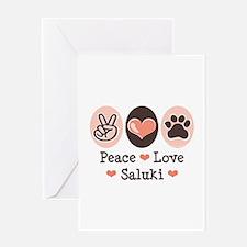 Peace Love Saluki Greeting Card