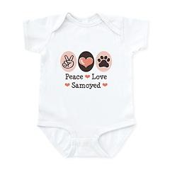 Peace Love Samoyed Infant Bodysuit
