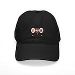 Peace Love Samoyed Black Cap