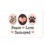 Peace Love Samoyed Postcards (Package of 8)