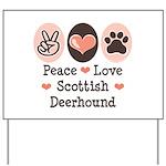 Peace Love Scottish Deerhound Yard Sign