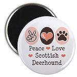 Peace Love Scottish Deerhound Magnet