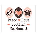 Peace Love Scottish Deerhound Small Poster