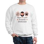 Peace Love Scottish Deerhound Sweatshirt